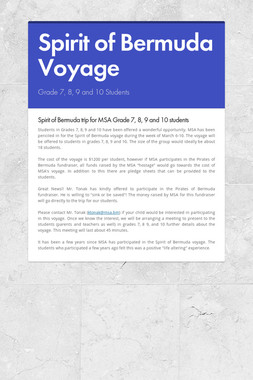 Spirit of Bermuda Voyage
