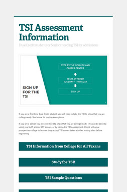 TSI Assessment Information