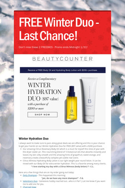 FREE Winter Duo - Last Chance!