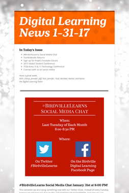 Digital Learning News 1-31-17