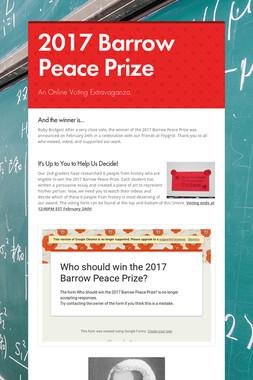 2017 Barrow Peace Prize