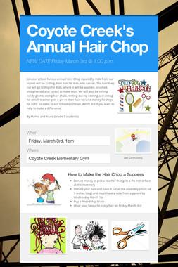 Coyote Creek's Annual Hair Chop
