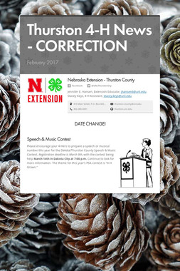 Thurston 4-H News - CORRECTION
