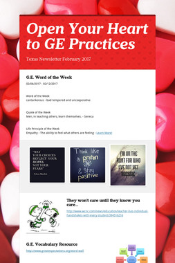Open Your Heart to GE Practices