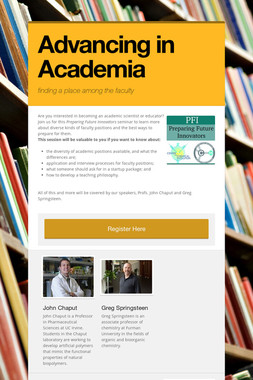 Advancing in Academia