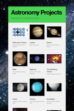 Astronomy Projects