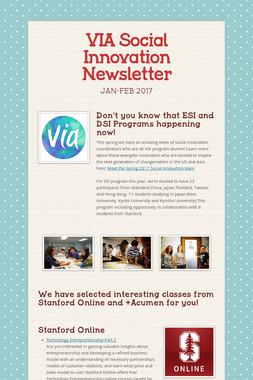 VIA Social Innovation Newsletter