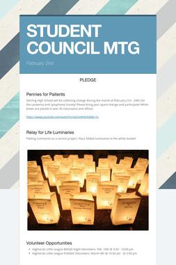 STUDENT COUNCIL MTG