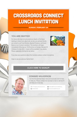Crossroads Connect Lunch Invitation