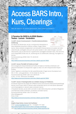 Access BARS Intro, Kurs, Clearings
