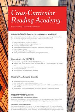 Cross-Curricular Reading Academy