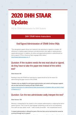 2020 DHH STAAR Update