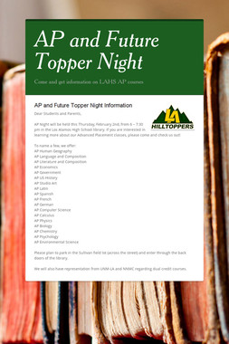 AP and Future Topper Night