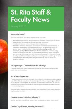 St. Rita Staff & Faculty News