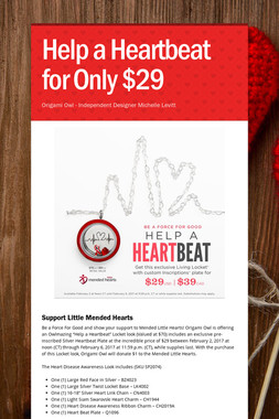 Help a Heartbeat for Only $29