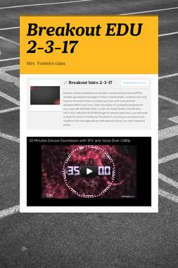 Breakout EDU 2-3-17