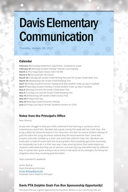 Davis Elementary Communication