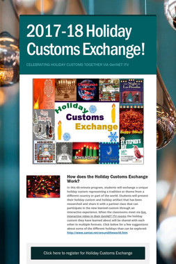 2017-18 Holiday Customs Exchange!