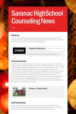 Saranac HighSchool Counseling News