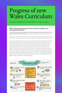 Progress of new Wales Curriculum