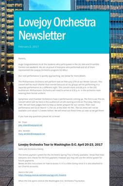 Lovejoy Orchestra Newsletter