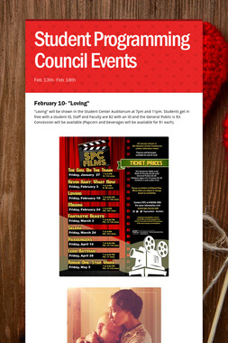Student Programming Council Events