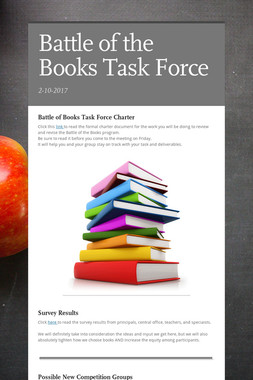 Battle of the Books Task Force