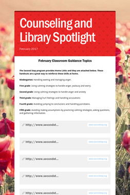Counseling and Library Spotlight