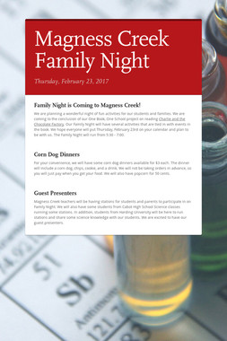 Magness Creek Family Night