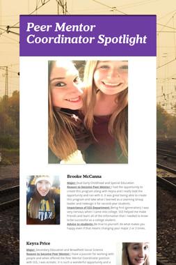 Peer Mentor Coordinator Spotlight