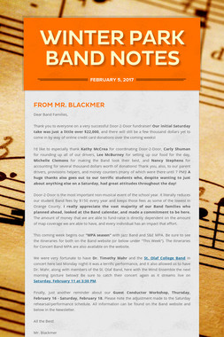 Winter Park Band Notes