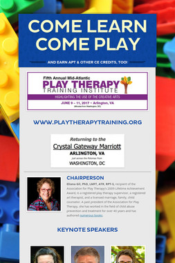 COME LEARN       COME PLAY