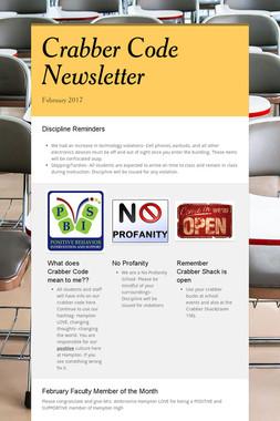 Crabber Code Newsletter