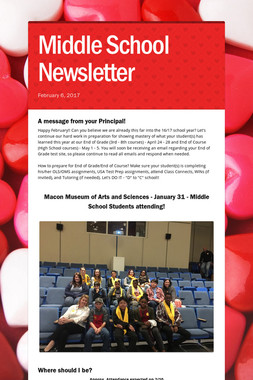 Middle School Newsletter