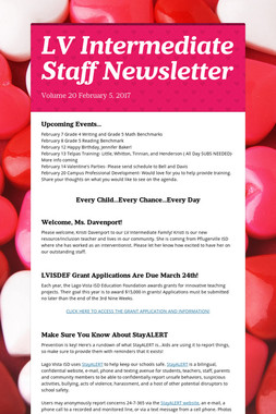 LV Intermediate Staff Newsletter