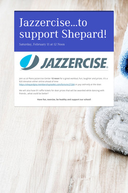 Jazzercise...to support Shepard!