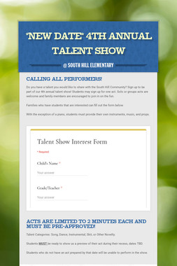 2nd Annual Talent Show