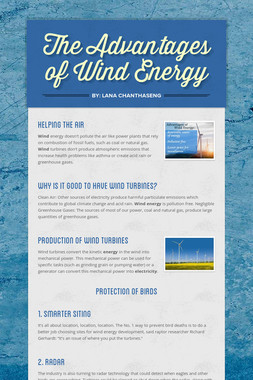 The Advantages of Wind Energy