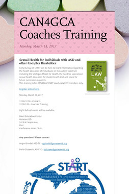CAN4GCA Coaches Training
