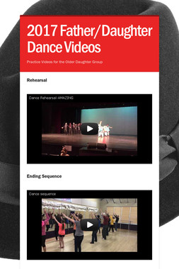 2017 Father/Daughter Dance Videos
