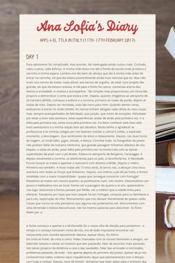 Ana Sofia's Diary
