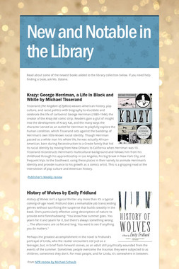 New and Notable in the Library
