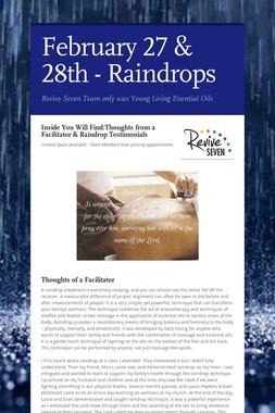 February 27 & 28th - Raindrops