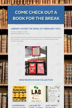 Come Check Out a Book for the Break