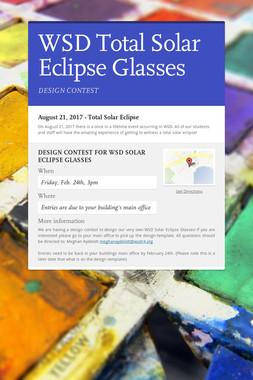 WSD Total Solar Eclipse Glasses
