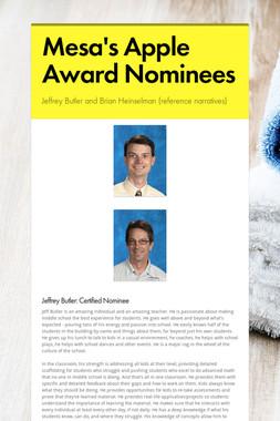 Mesa's Apple Award Nominees
