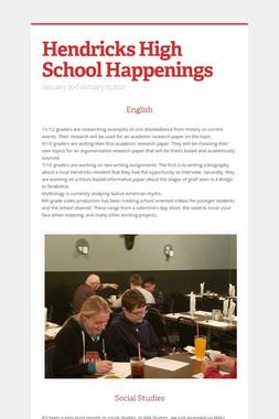 Hendricks High School Happenings