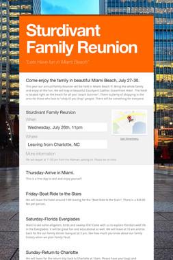 Sturdivant Family Reunion