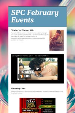 SPC February Events