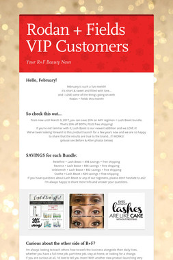 Rodan + Fields VIP Customers